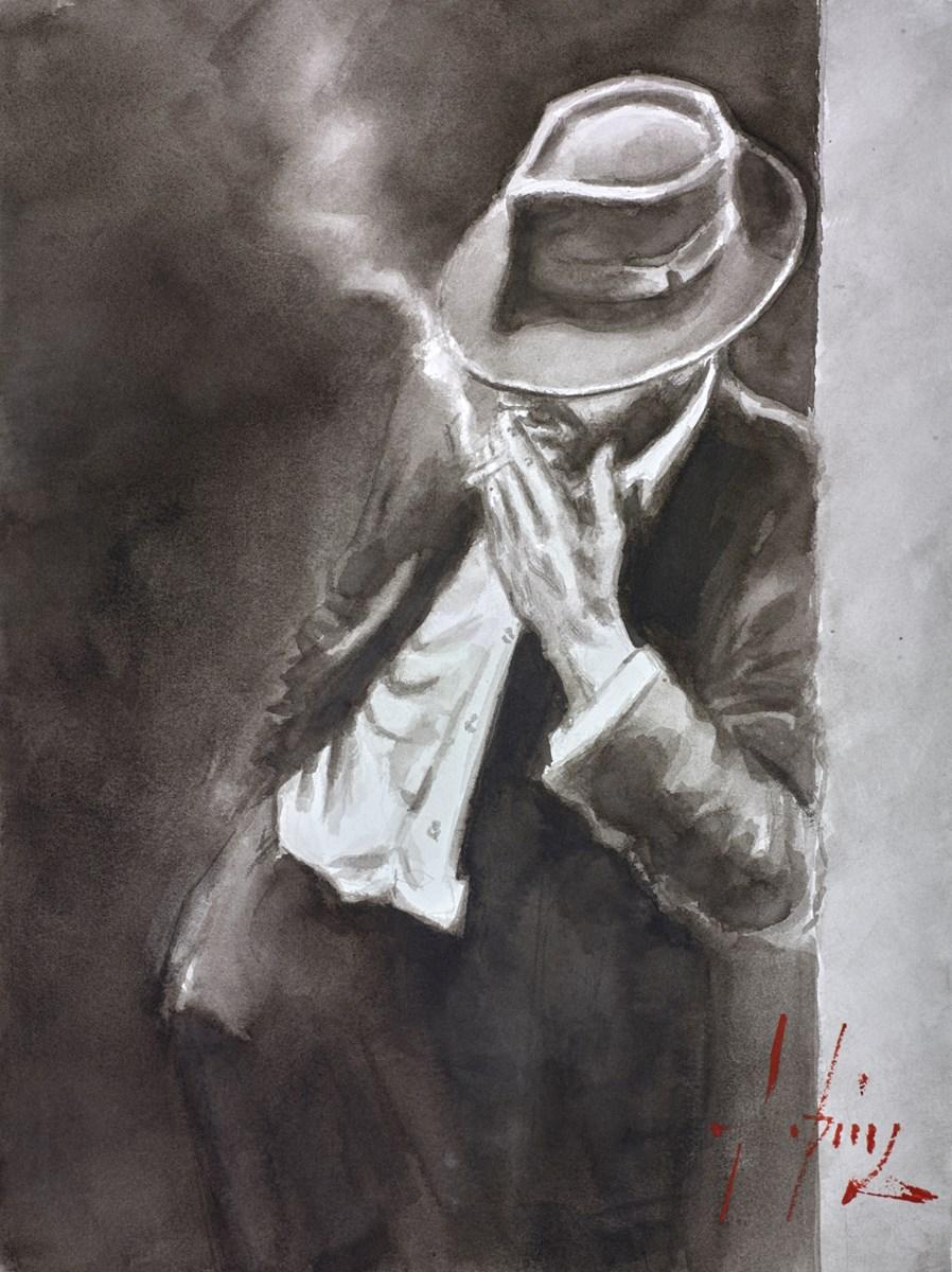 Man in Black Suit (Ink)